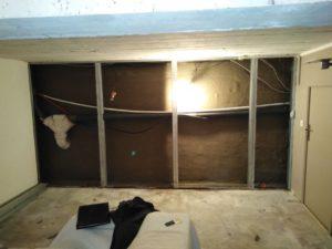 Réalisation d'un cuvelage professionnel : photo après cuvelage cave