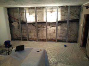 Cuvelage par un professionnel : photo avant cuvelage du sous-sol