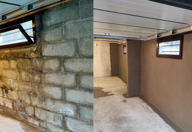 Le cuvelage pour régler un problème de garage humide: exemple de cas pratique